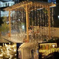 USB LED String Fairy Lights Outdoor Garden Curtain Party Wedding Xmas Decoration