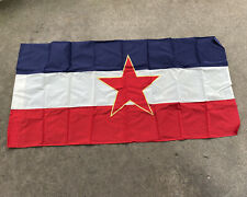 Peoples Republic Of Yugoslavia Flag 1959 Dated 60x28 Inch (Vb2467