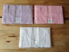 3 x Ladies Colour 100% Cotton Scallop Edged Vest Underwear Top size WX  OS NEW