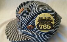 Old RAILROAD Engineer Hat Cap w/ Collectible PINS and BUTTONS Yukon Soo NSR sz M