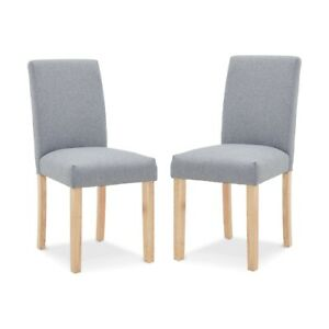 Set of 2 Upholstered Chairs, extra comfortable with Armless design..