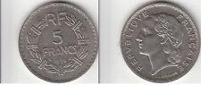 Monnaie 5 Francs LAVRILLIER 1938