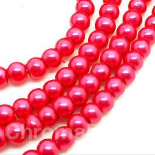 3mm Vetro Perle Finte strand Rosa Acceso 230+ perline creazione gioielli,