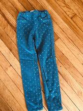 Euc Blue Corduroy Skinny Pants Stars Girls 7-8 128cm H&M