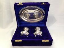 International Silver Co. Footed Salt & Pepper Shakers in Original Case