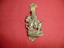 "Small Vintage reclaimed Solid Brass Doorknocker""DICK TURPIN"" H12cm,England made."