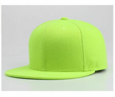 Snapback Retro Baseball Cap Funky Plain Hat Hip Hop Era Fitted Flat Peak UK