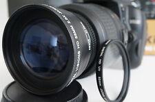UV 2x Tele Zoom Lens For Nikon d5200 d3300 d5100 d3100 d3200 d60 d40x w/18-55 vr
