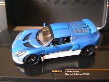 LOTUS EXIGE SPRINT EDITION 2006 BLUE METALLIC WHITE IXO MOC119 1/43 BLAU BLEU