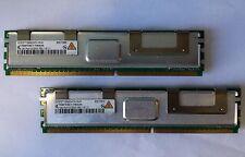 2x Qimonda 1GB PC2-5300 DDR2-667 ECC Fully Buffered 240 Pin HYS72T128420HFN-3S-B