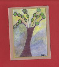 Set of Six Contemporary Original Art Tree Note Cards Greetings