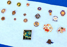 vintage PIN Collection NRA Rotary Kiwanis Lions Club pinback PERSONAL MIXED LOT