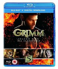 Grimm Complete Series 5 BluRay All Episode Grim Fifth Season Original UK Rel New