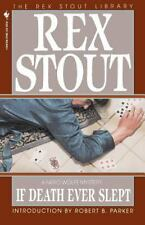 Nero Wolfe Ser.: If Death Ever Slept 9 by Rex Stout (1995, Paperback)