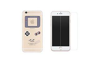 iPhone 8 Plus - Combo coque gel + protection écran en verre trempé - Game boy