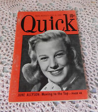 1949 NEWS WEEKLY QUICK BOOK JUNE ALLYSON MOVING TO THE TOP MAGAZINE DEC.12,1949