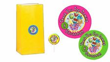 20 Shopkins 2 inch Stickers Party Bag Tags Favors Lollipop Personalize
