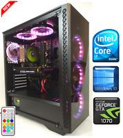Gaming PC Desktop Intel Core i7 4.0GHz/GTX 1070/SSD/16GB RAM/2TB HDD/RGB LED