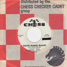 Jackie Ross  Haste Makes Waste Chess Demo 13496 Soul Northern Motown