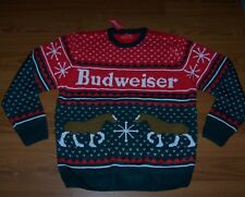Size XL Mens Ugly Christmas Sweater Budweiser
