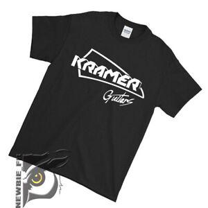 Kramer guitars logo Black - White T-shirt S M L XL 2XL #05