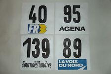 (5) 4 ANCIENS DOSSARD DE COUREUR CYCLISTE COURSE TOUR VELO SPONSOR FRANCE 1970