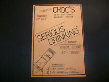 More details for crocs rayleigh 1983 original punk gig flyer serious drinking playn jayn