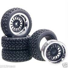 Rubber Tires Offset 9mm 2083-8019 Fit RC HSP 1:10 On-Road Refit 1:16 Rally Car