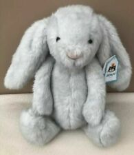 Jellycat Medium Bashful Birch Bunny Rabbit Soft Toy Comforter Baby Grey