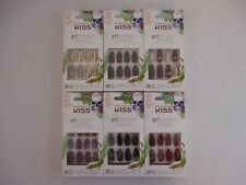 6 KISS GEL FANTASY NAILS LIMITED EDITION - LONG LENGTH - ASSORTED - EL 1080