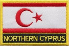 Turkish Republic of Northern Cyprus Flag Embroidered Patch Sew or Iron on