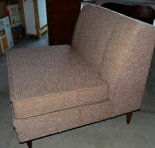 Mid-Century Modern Lounge Armless Chair Original Fabric Eames Atomic Vintage