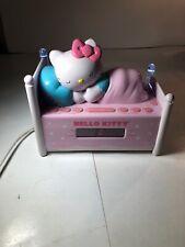 Hello Kitty Sleeping Kitty Alarm Clock Radio Light Up Bed Posts Sanrio