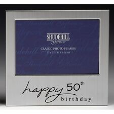 Happy 50th Birthday Photo Frame Anniversary Men Women Male Female Present Gifts