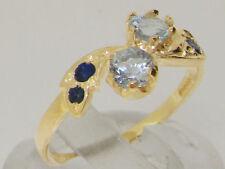 Anniversary Round Aquamarine Fine Rings