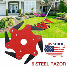 6 Steel Blades Razors 65Mn Lawn Mower Trimmer Head Grass Weed Eater Brush Cutter