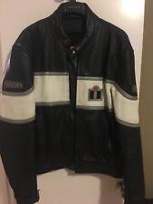 Icon Neo Daytona Black Mens Leather Motorcycle Racing Biker Jacket 44 L Large