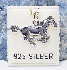 NEU 925 Silber ANHÄNGER mit PFERD/HORSE/PONY Anhänger für Ketten KETTENANHÄNGER