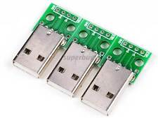 3pcs Male USB Type a to DIP 2.54mm 4 Pin Adapter Converter PCB Board for Arduino