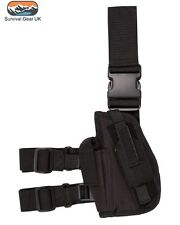 KOMBAT TACTICAL DROP LEG HOLSTER BLACK LEFT HANDED AIRSOFT MILITARY