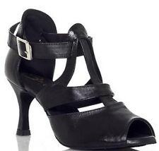 Women's Dance Shoes Heel 7.5cm Leather Latin Jazz Chacha Ballroom Salsa Tango