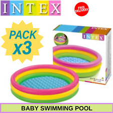 3 Pack Inflatable Colorful Baby Swimming Pool Safe And Fun For Play Kids Summer