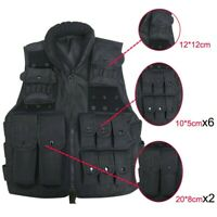 Adjustable Military Tactical Vest Assault Airsoft Molle Combat Paintball Hunting