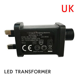 12V 1A Class 2 Power Supply, LED Transformer Replacement for String Light Device