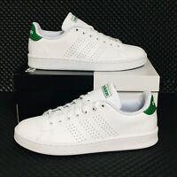 Adidas Advantage Men's Athletic Casual Tennis Shoes White Green Running Sneakers