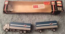 "Vintage Herpa 1:87 HO Scale Man Grey Truck & Trailer ''Fern Schell Gut"" , Boxed"