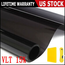 50 * 300cm Car Window Tint Film 15% Black For Car Window Glass Sun Shade Sticker