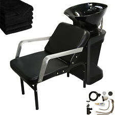 ABS Backwash Shampoo Bowl Sink Chair Unit Station Beauty Spa Salon Equipment
