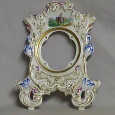 Cadran de pendule en porcelaine polychrome en TBE XVIIIe XIXe horloge clock