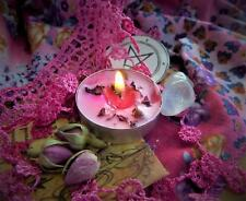 Love  Handmade Spell  Candle Ritual Pagan Wicca  Powerful Magic Rose in Pouch